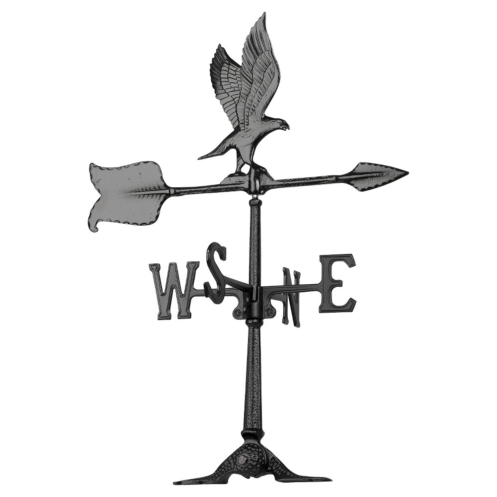"Image of ""24"""" Eagle Accent Weathervane - Black - Whitehall Products"""