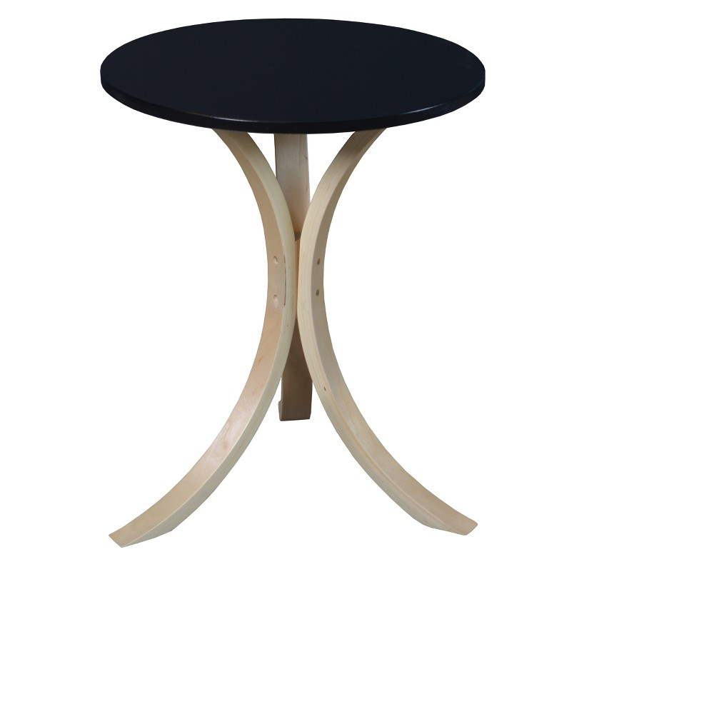 Astounding Mia Bentwood Side Table Natural Black Niche Ncnpc Chair Design For Home Ncnpcorg