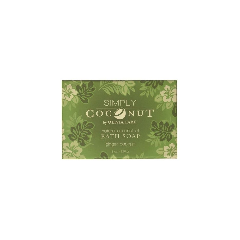 Olivia Care Simply Coconut Ginger Papaya Bar Soap - 8oz