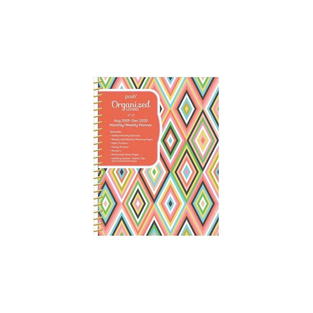 Posh Organized Living Dazzling Diamonds Monthly/Weekly Planning 2019-2020 Calendar - (Hardcover)