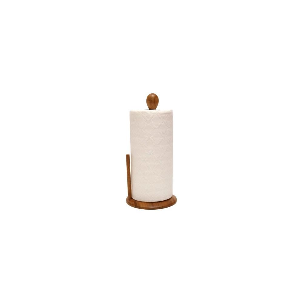 Image of Lipper International Bamboo Paper Towel Holder, Brown