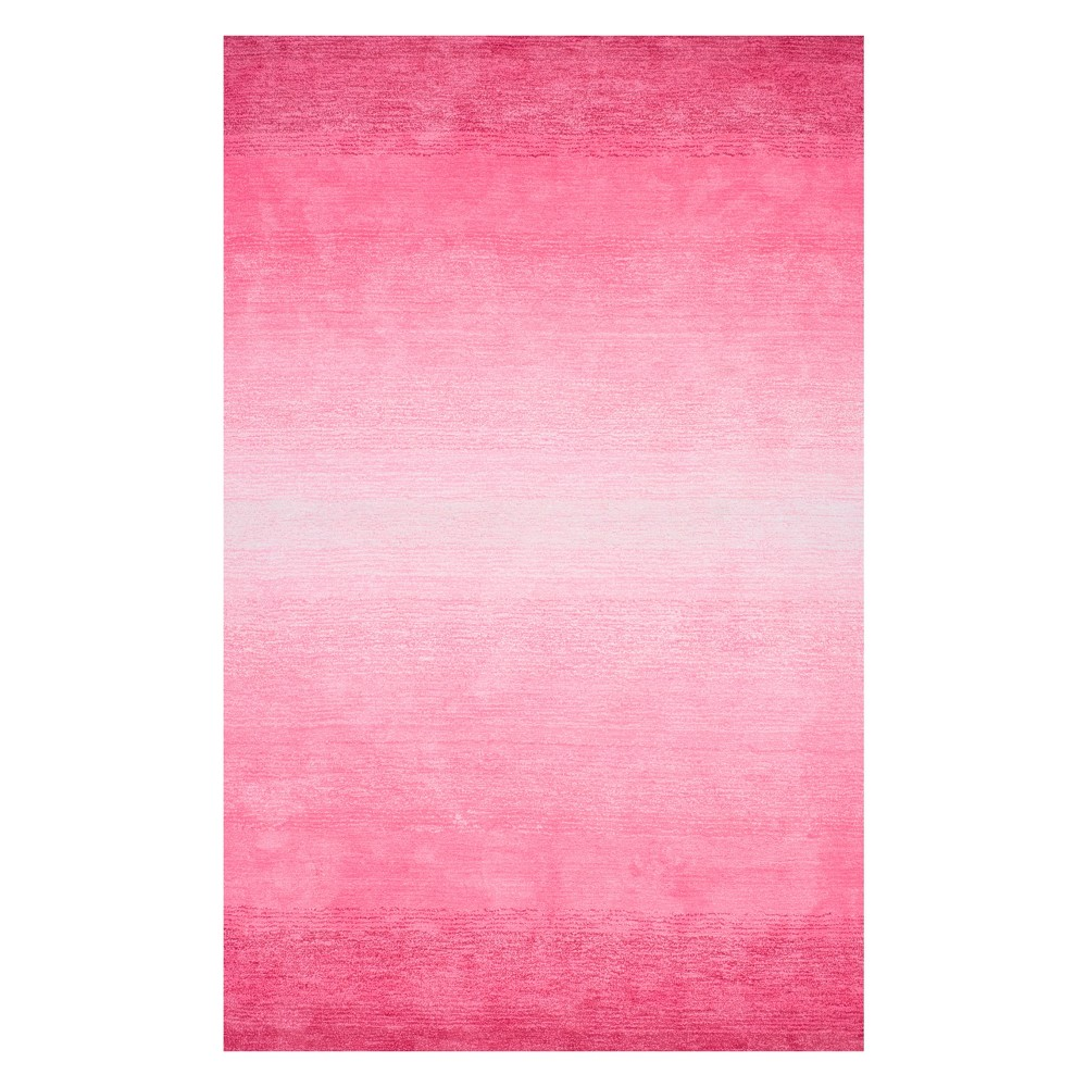 Pink Solid Tufted Area Rug 9'X12' - nuLOOM