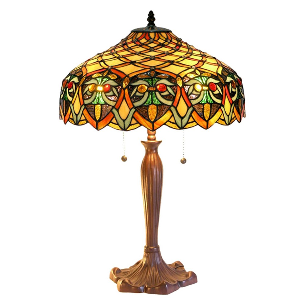 Tiffany Style Table Lamp (Lamp Only), Multi-Colored