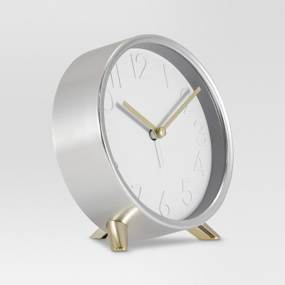 Decorative Table Top Clock - Silver/Gold - Threshold™