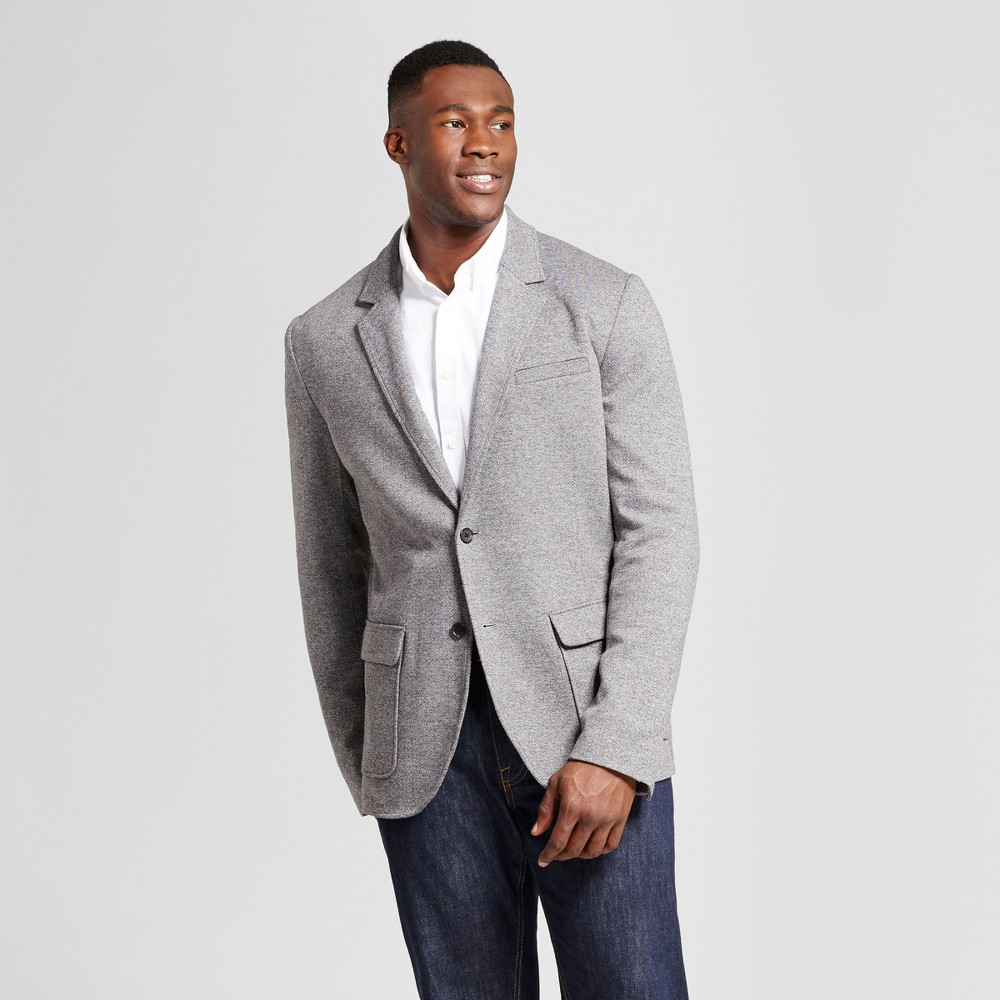 Men's Big & Tall Standard Fit Deconstructed Knit Blazer - Goodfellow & Co Gray 3XB