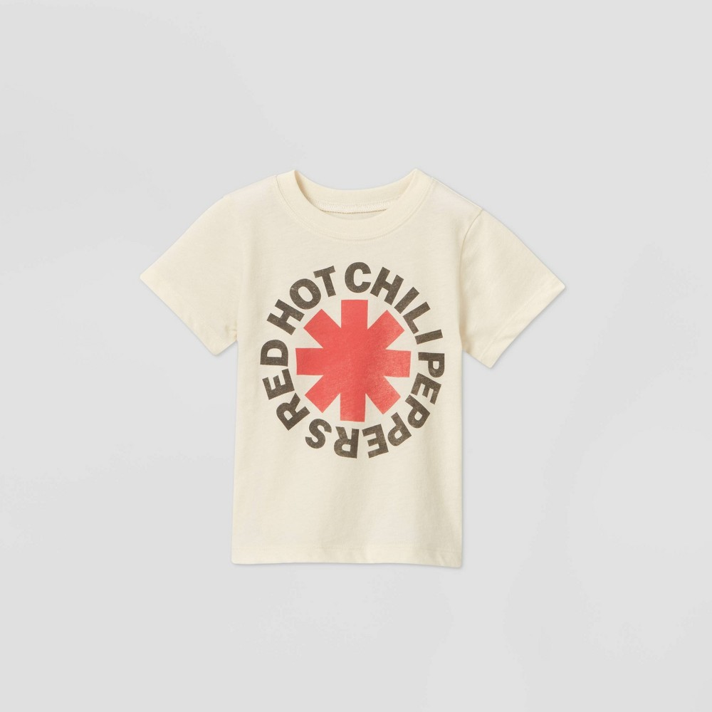 Toddler Boys 39 Red Hot Chili Peppers Short Sleeve Graphic T Shirt Beige 18m