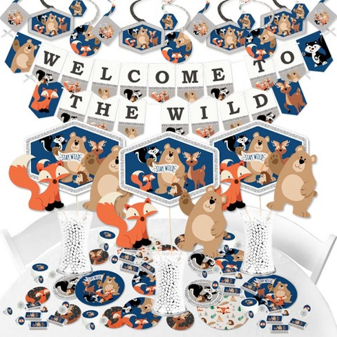 Big Dot Of Happiness Stay Wild Forest Animals Woodland Baby Shower Or Birthday Party Supplies Banner Decoration Kit Fundle Bundle Target