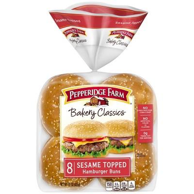 Pepperidge Farm Bakery Classics Sesame Topped Hamburger Buns - 15oz/8ct