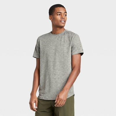 Men's Short Sleeve Soft Gym T-Shirt - All in Motion™ Olive Green L