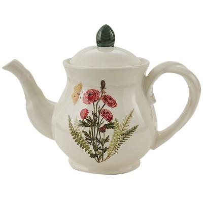 Park Designs Garden Botanist Teapot - White
