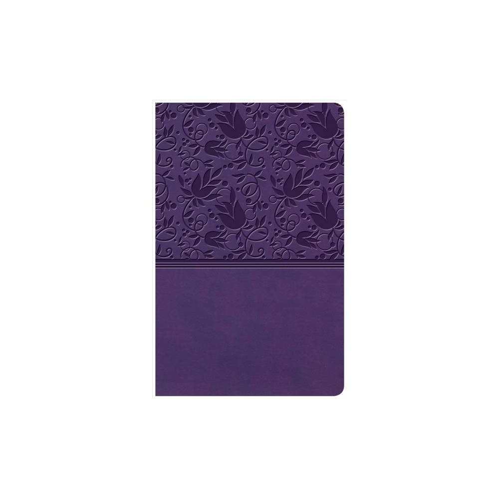 Holy Bible : Kjv Personal Size Reference Bible, Purple Leathertouch - Lrg Ind (Paperback)