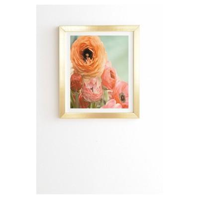 Bree Madden Spring Ranunculus Framed Wall Art by Deny Designs