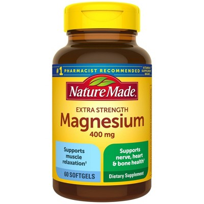 Nature Made Extra Strength Magnesium 400 mg Softgels - 60ct