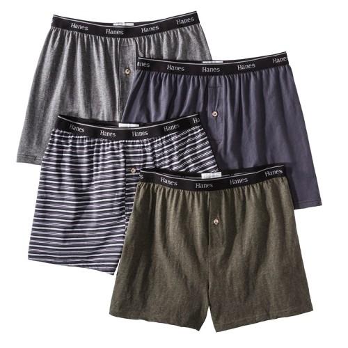 Hanes Premium Men's 4pk Knit Boxer Briefs - Gray XXL, Size: XXL, Black