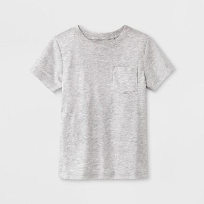 Toddler Boys' Pocket Short Sleeve T-Shirt - Cat & Jack™ Heather Gray 4T