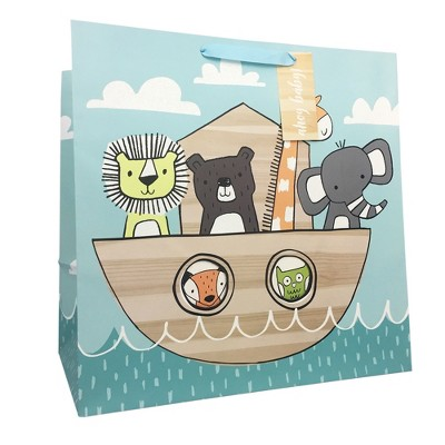 Large Animals in Ark Baby Shower Gift Bag - Spritz™