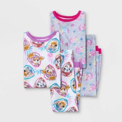 Toddler Girls' 4pc PAW Patrol Snug Fit Pajama Set