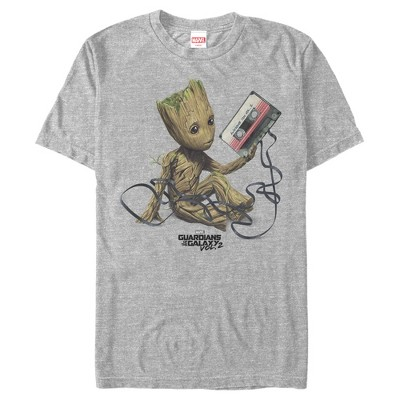 Men's Marvel Guardians Of The Galaxy Vol. 2 Groot Tape Portrait T-Shirt