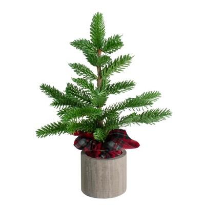 """Northlight 16"""" Unlit Artificial Christmas Tree Medium Pine in Pot"""