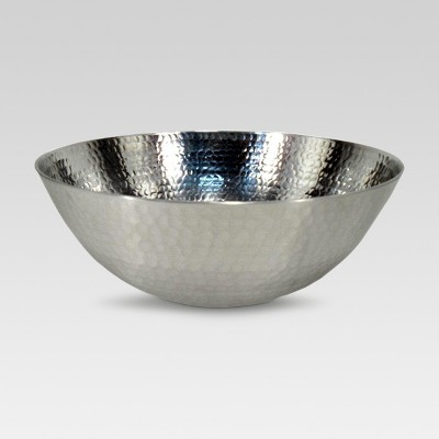 Hammered Stainless Steel Serve Bowl - Threshold™