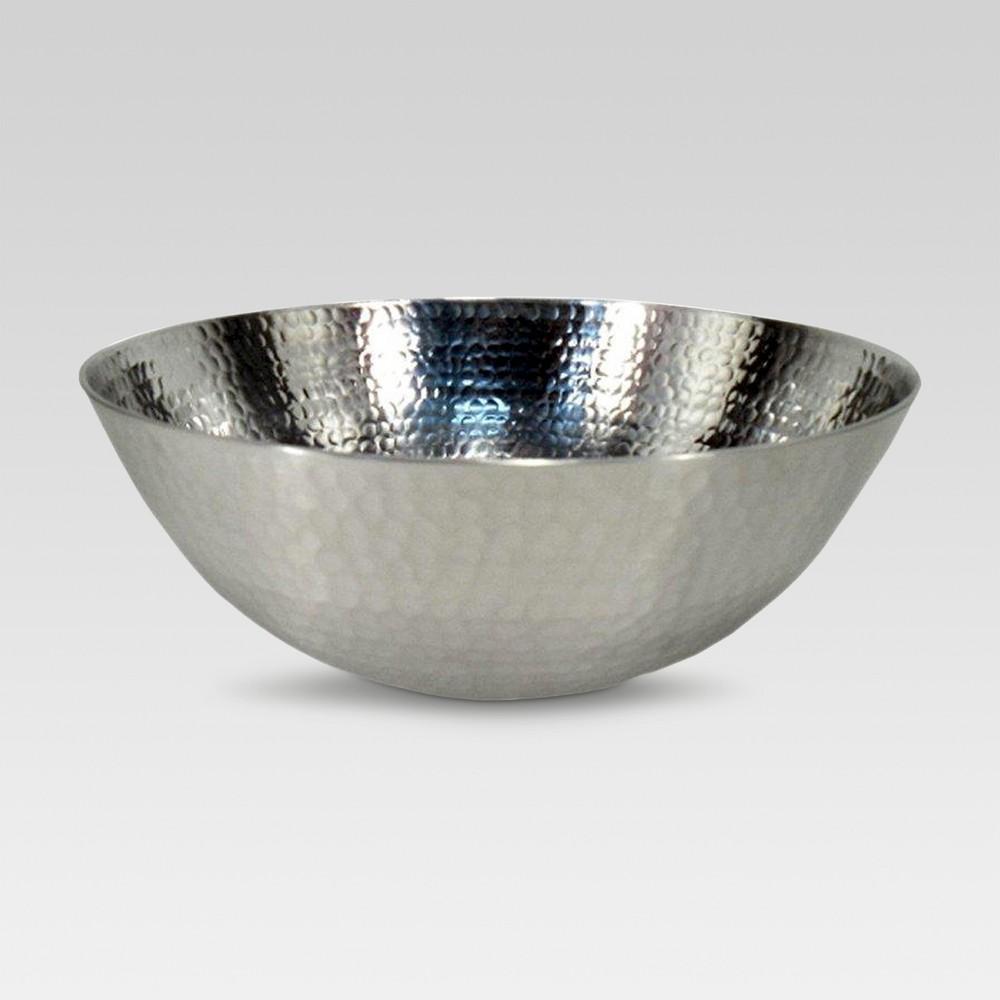 Image of 118.3oz Aluminum Hammered Serving Bowl - Threshold