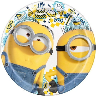 """Despicable Me Minions 7"""" 8ct Party Plates"""