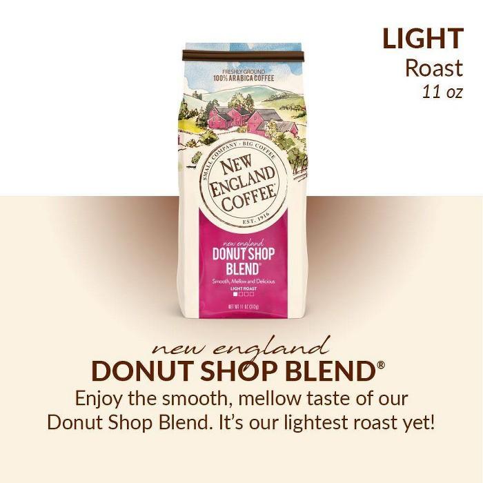 New England Coffee Donut Shop Blend Light Roast Ground Coffee - 11oz - image 1 of 7