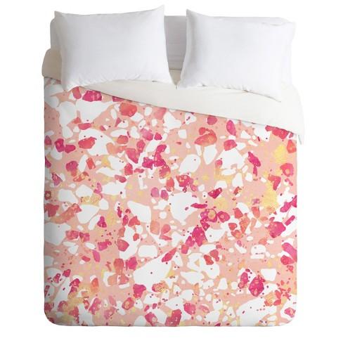 Elisabeth Fredriksson Terrazzo Delight Duvet Cover Set Pink - Deny Designs - image 1 of 2