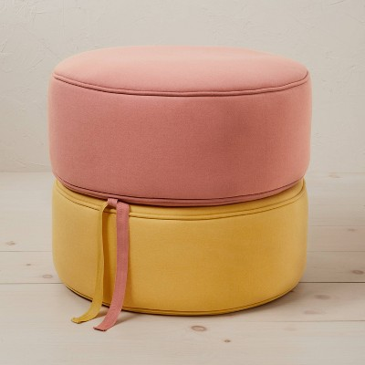 Appenine Linen Stacking Pouf - Opalhouse™ designed with Jungalow™