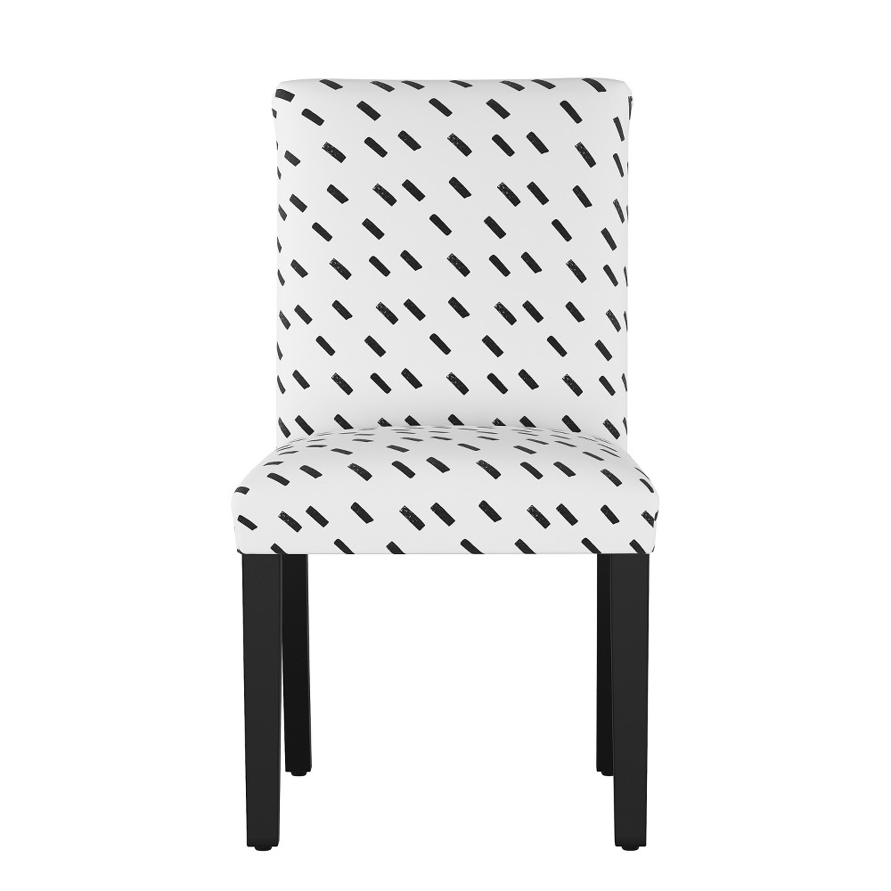 Hendrix Dining Chair Charcoal/White Dash (Grey/White Dash) - Cloth & Co.