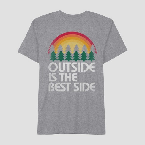 4eac324c2 Men's Short Sleeve Outside is the Best Side Graphic T-Shirt - Awake Heather  Gray