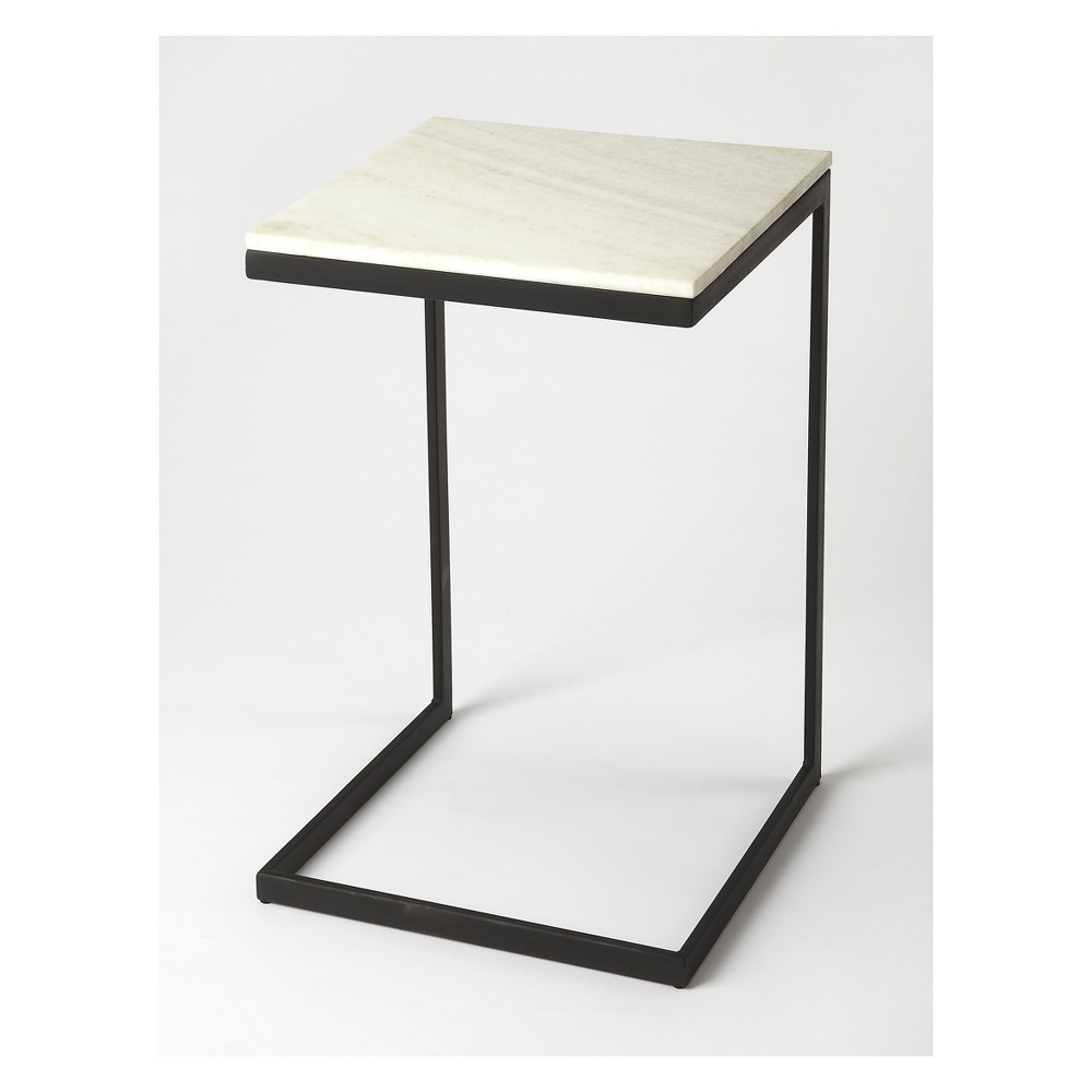 Lawler Metal And Marble End Table Black - Butler Specialty