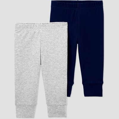 Baby Boys' 2pk Pull-On Pants - Just One You® made by carter's Navy/Gray 6M