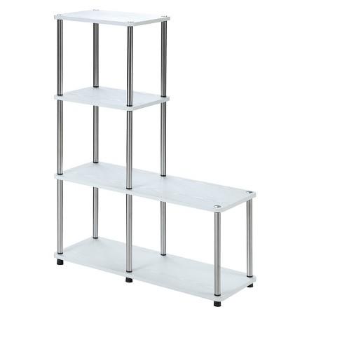 "Designs2Go Multi Shelf ""L"" Bookshelf White 41.75"" - Johar Furniture - image 1 of 3"