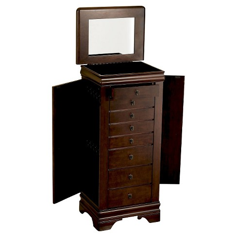Josette Jewelry Armoire Cherry - Powell Company - image 1 of 4
