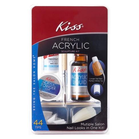 Kiss Bring The Salon Home French Acrylic Nail Kit Natural