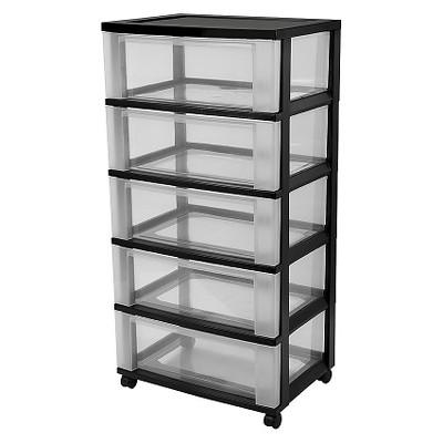 IRIS 5 Drawer Rolling Storage Cart