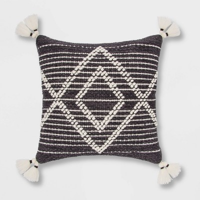 Embroidered Textured Diamond Throw Pillow - Opalhouse™