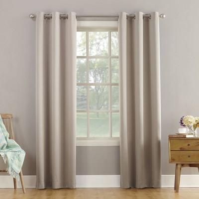 "84""x40"" Lazlo Energy Efficient Grommet Curtain Panel Stone - Sun Zero"