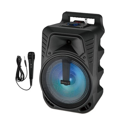 Studio Z STZP-1000 10 Inch 100 Watt MAX Portable Rechargeable Speaker Woofer Entertainment System with USB Music Stream and Handheld Wired Microphone