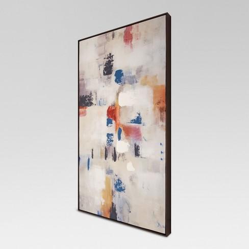Abstract Framed Embellished Canvas 42\