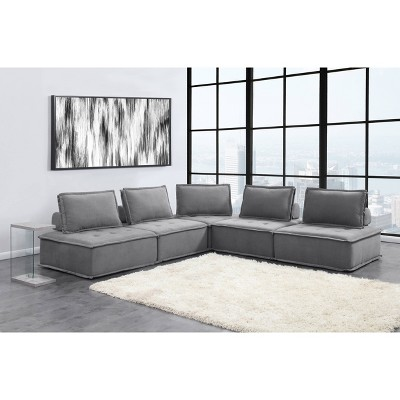 5pc Cube Modular Seating Sectional - Picket House Furnishings