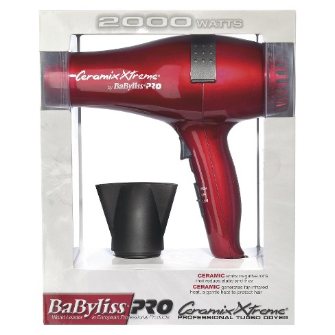 BaByliss Pro Ceramix Xtreme Professional Turbo Dryer Red 2000 Watts - image 1 of 1