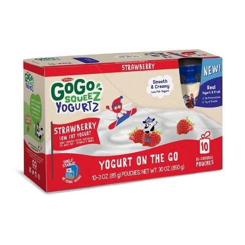GoGo squeeZ Kids' YogurtZ, Strawberry - 3oz/10ct - image 1 of 3