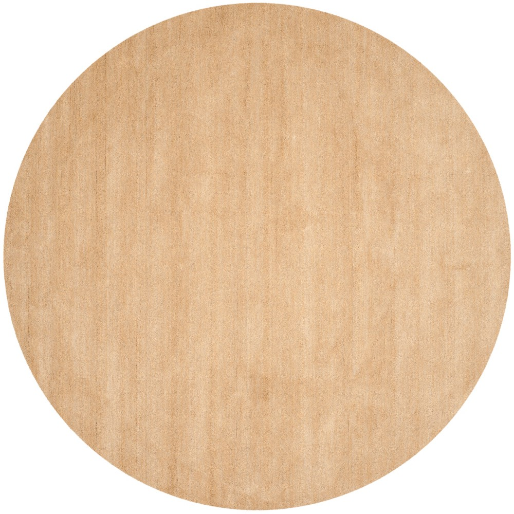 Solid Tufted Round Area Rug Beige