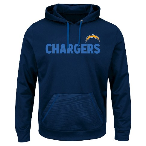 quality design 393c6 d9759 San Diego Chargers Men's Performance Pullover Fleece Hoodie Sweatshirt M