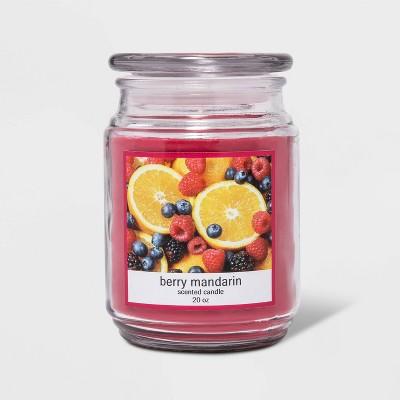 Glass Jar Berry Mandarin Candle