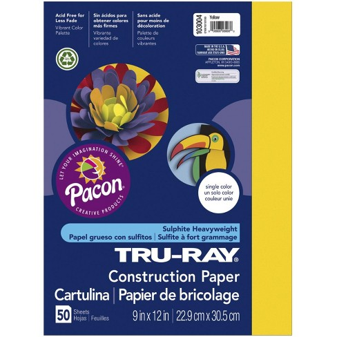 Tru-Ray Sulphite Construction Paper, 18 x 24 Inches, Yellow, 50 Sheets - image 1 of 1