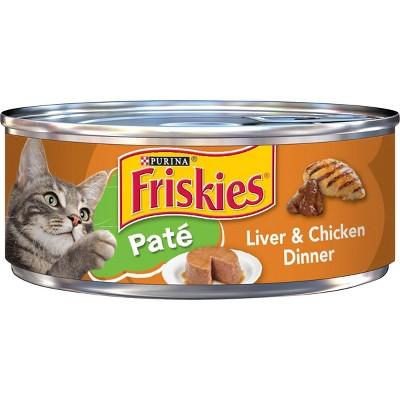 Purina Friskies Paté Wet Cat Food Liver & Chicken Dinner - 5.5oz