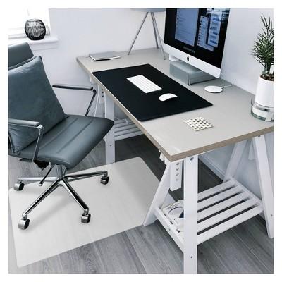 """29""""x46"""" Polypropylene Anti-Slip Chair Mat for Hard Floors Rectangular White - Floortex"""